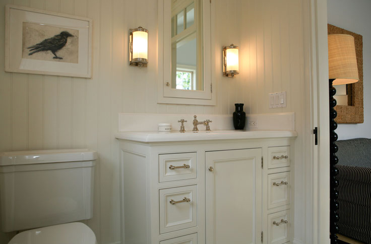 Off White Bathroom Cabinets Cottage Bathroom Giannetti Home - White bathroom faucet fixtures
