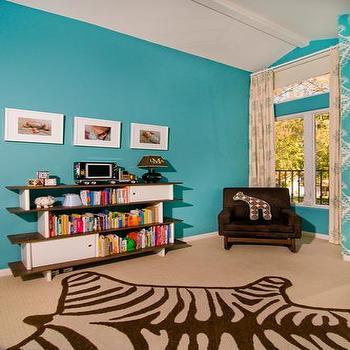 Turquoise Nursery, Contemporary, nursery