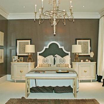 Taupe Walls, French, bedroom