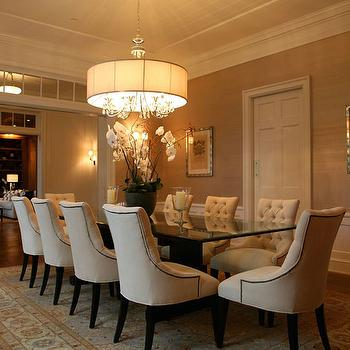 Nailhead Trim Dining Chairs Contemporary Dining Room