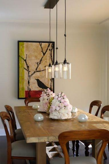 Roost glass cylinder pendant contemporary dining room for Over dining table pendant lights