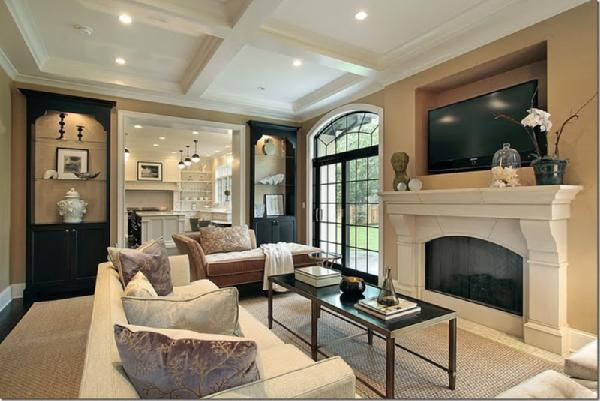 Living room Taupe room ideas