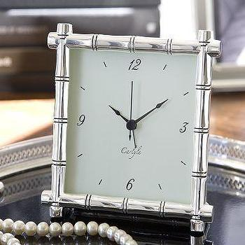 Silver-Plated Bamboo Clock, Pottery Barn