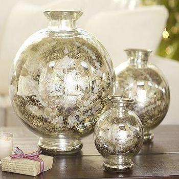Etched Mercury Vases, Pottery Barn