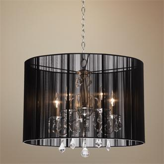 Crystal string fabric chandelier look 4 less view full size aloadofball Gallery