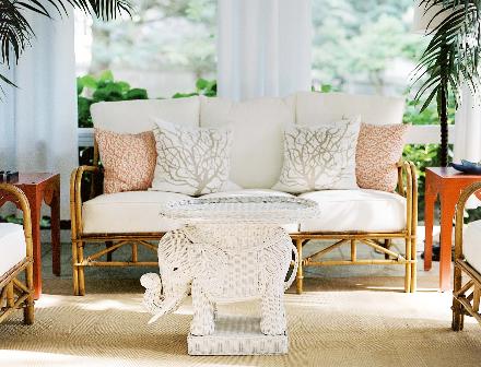 White Elephant Table Cottage Deck Patio Lonny Magazine