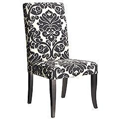 black and white ingram dining chair