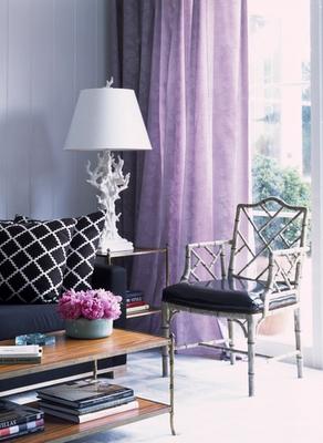 Purple Lattice Curtains Design Ideas