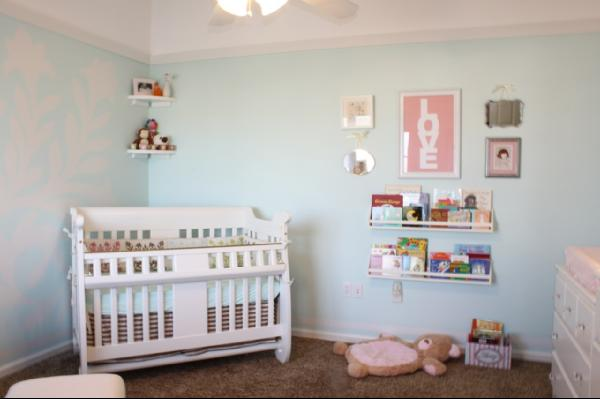 Turquoise Nursery Transitional Nursery Sherwin