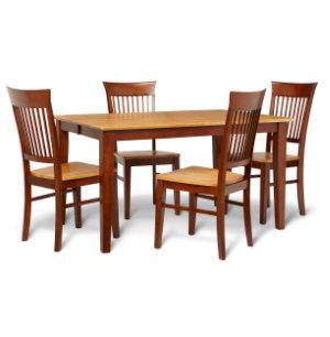 Dining Table amp 4 Side Chairs Solid Wood Furniture