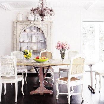 French Cane Back Dining Chairs, French, dining room