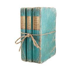 Book Boxes, Turquoise Three-Stack, Wisteria