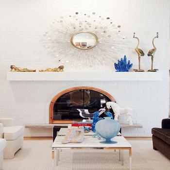 Silver Sunburst Mirror, Contemporary, living room, Michelle Williams Interiors