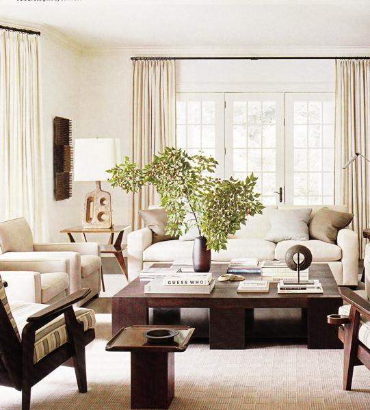 Monochromatic Living Room - Traditional - living room