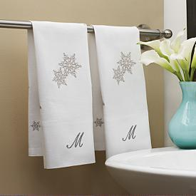 snowflake guest towels from RedEnvelope.com