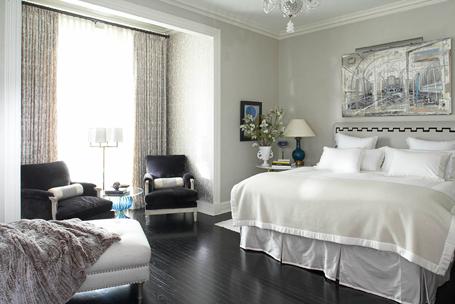gray bedroom traditional bedroom house beautiful