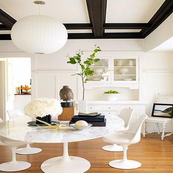 Saarinen Table Oval, Modern, dining room, Julian Wass Photography