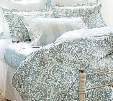 Painterly Paisley 400 Thread Count Duvet Cover Amp Sham