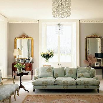 Aqua Sofa, Transitional, living room