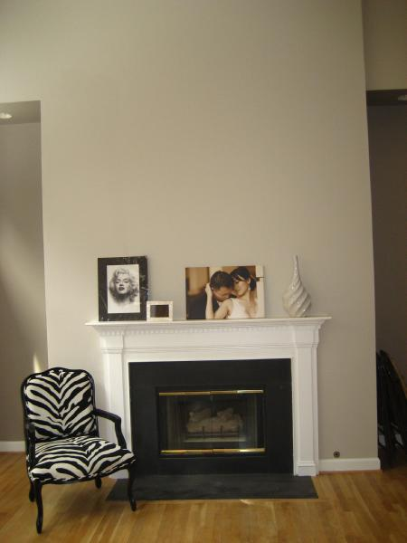 Gray Living Room With Fireplace: Sherwin Williams Modern Grey