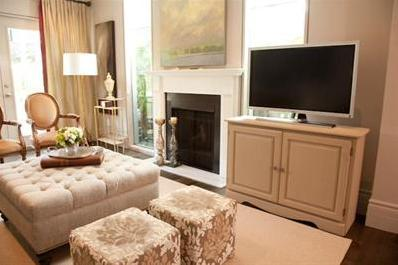 Tv Next To Fireplace Transitional Living Room Farrow