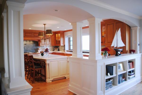 KItchen Pass Through Transitional Kitchen Benjamin Moore Oystershell