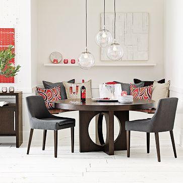 West Elm Round Dining Table With Cutout Legs L4l