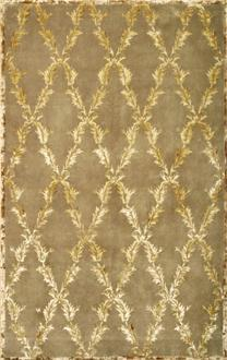 Arbor Brown Gold Diamond Pattern Rug