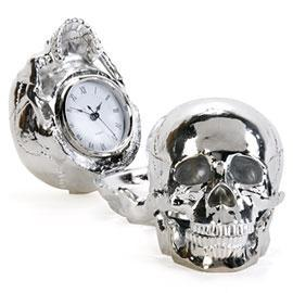 Silver Skull Clock Z Gallerie