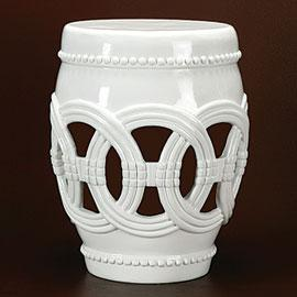 Palmer White Ceramic Garden Stool & White Palmer Ceramic Drum Stool islam-shia.org