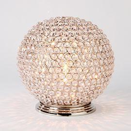 Bling Globe Crystal Hurricane Candle Holder