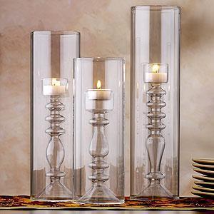 Calista Glass Cylinder Tealight Holders, Candleholders, Cost Plus World Market