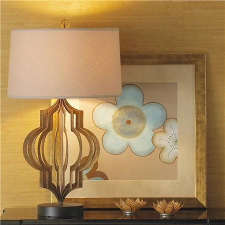 Watch Hill Caged Gold Table Lamp