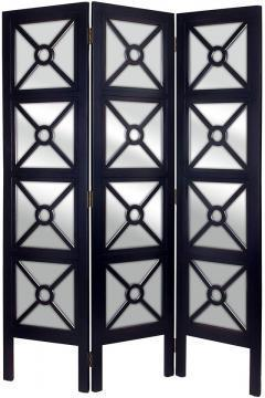 Mirrored Floor Screen Room Dividers Home Accents