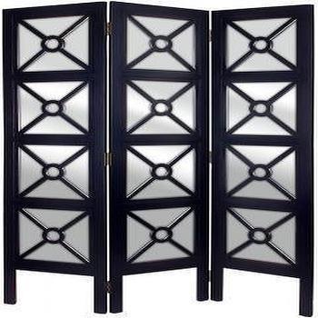 Mirrored Floor Screen, Room Dividers, Home Accents, Home Decor, HomeDecorators.com