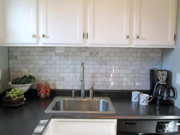 Preferred Carrara Backsplash - Transitional - kitchen - Sherwin Williams  HJ42