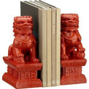 Fu Dog Red Bookends Set