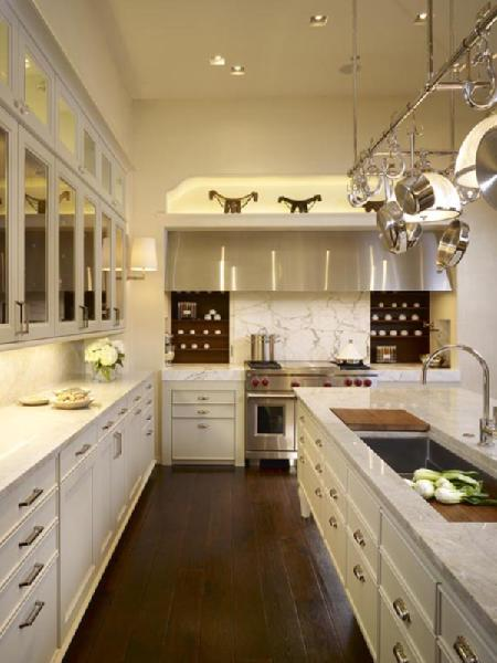 Calcutta Marble Countertops Transitional Kitchen