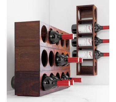 Shesham Wall Mount Stacking Wine Rack