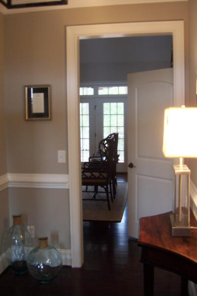 Beige Paint Color - Transitional - entrance/foyer - Olympic Stormy ...