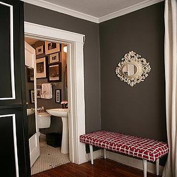 Chocolate Walls, Transitional, entrance/foyer, Turquoise LA