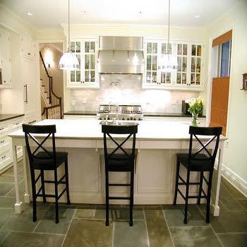 Black X Back Bar Stools, Transitional, kitchen