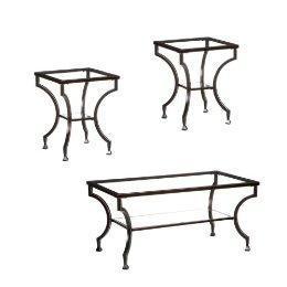 3Pc Cocktail Table/ End Table Set, Black : Target