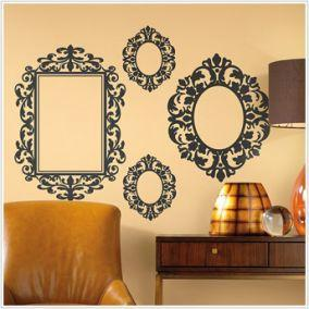 Black Wall Decals baroque frames wall stickers