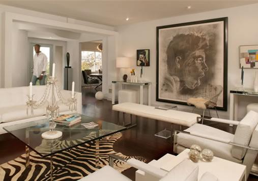 Black And White Cowhide Rug Contemporary Living Room