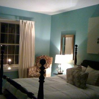 Tiffany Blue Wall Paint, Contemporary, bedroom, Valspar Lake Country Blue