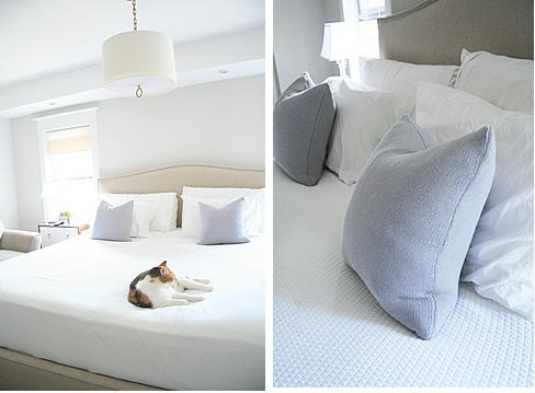 Lavender Pillows Transitional Bedroom Benjamin Moore