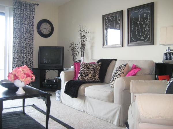 black and pink living room bookswinefamily black and white and pink living room images 22559