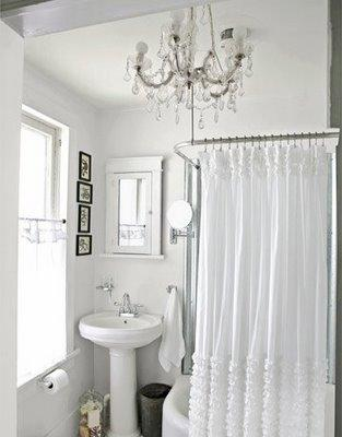 White Curtains black and white curtains target : Ruffles Shower Curtain : Target