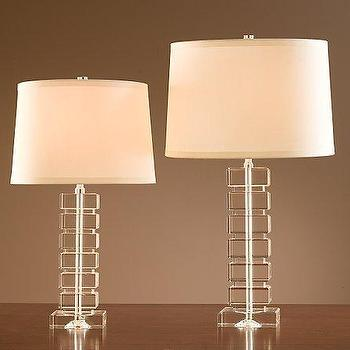 Stacked Crystal Block Lamps